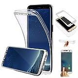 Galaxy S8 Hülle,Galaxy S8 Silikon Hülle,Leeook Schön Ultra Dünn 360 Degree Double Sides Full Body Durchsichtig Trans