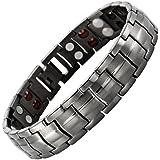Mens Willis Judd New Four Element Gunmetal Titanium Magnetic Bracelet In Black Velvet Gift Box & Free Link Removal Tool