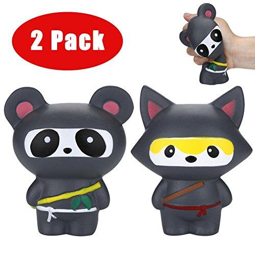 Saihui 2 Super Jumbo Cartoon Ninja Squishies Slow Rising Duft Charm Weich  Stress Relief Spielzeug Für