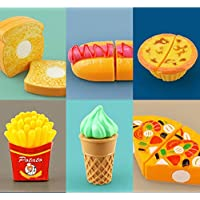 PLUSPOINT Exclusive Collection of Realistic Sliceable Fruits ,Vegetables ,Fast Food, Bakery Products,Cake,Doughnuts for Girls and Boys (Bakery)