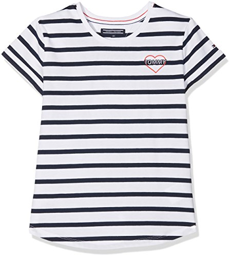 Tommy Hilfiger Girl's AME Striped Cn Knit S/S T-Shirt