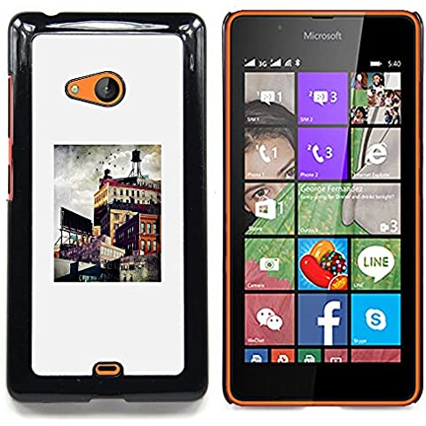 For Nokia Lumia 540 Case , Architettura Città Pittura Arte - Diseño Patrón Teléfono Caso Cubierta Case Bumper Duro Protección Case Cover Funda