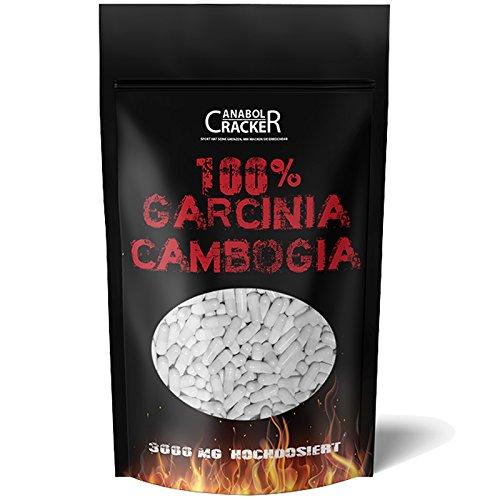 500 Kapseln - Garcinia Cambogia Extrakt, 3000mg pro Tagesdosis, 60% HCA hochdosiert, Reine und Pure Premiumqualität aus Deutschland, Appetitzügler Fettverbrennung Diät Abnehmen