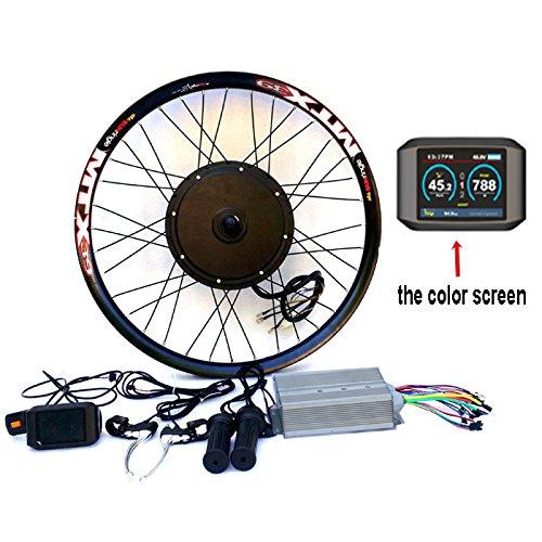 "theebikemotor 3.2\"" TFT Display+3000W Hi Speed Electric MTB Bicycle E bike Kit Conversione Bici Elettrica (72V3000W, 20\"")"
