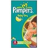 Pampers Baby Dry taille 4 (7 à 18 kg) Gros Paquet Maxi 2x62 par paquet