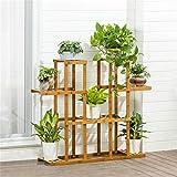 Edge to Blumenregale Bambus Pflanzenständer Blumen Display Regal Rack Organizer für Home Terrasse Rasen Garten Balkon Halter (größe : L:Height 87)