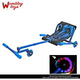 Wembley Ezy Easy Wave Roller with LED Lights - The Ultimate Riding Machine - The Latest Trend in Ride-ONS! (Blue)