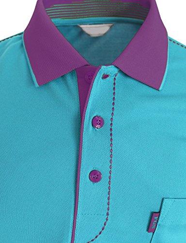 BCPOLO Männer Poloshirt Dri-Fit Short Sleeve Athletisch Polo-Shirt Sky Blue