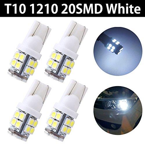 Beilan 10PCS T10 LED Ampoules de Voiture Canbus Blanc W5W 5-SMD 5050 Super Bright 194 168 2825 Wedge LED Lumi/ères de voiture Source Ampoules de rechange Lampes int/érieures