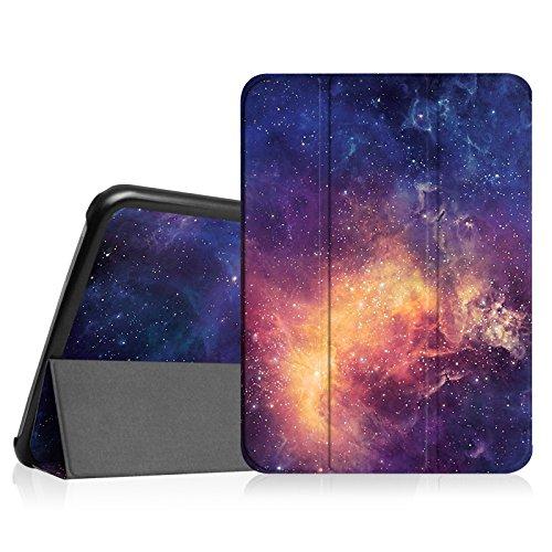 Fintie Hülle für Samsung Galaxy Tab 4 10.1 SM-T530 SM-T535 - Ultra Schlank Superleicht Ständer SlimShell Cover Schutzhülle Etui Tasche mit Auto Schlaf/Wach Funktion, Die Galaxie