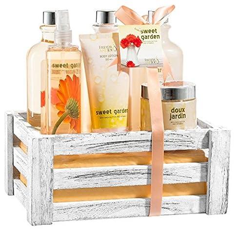 Sweet Garden 6pcs Gift Set in Distress white wood gift box