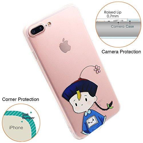iPhone 6S Hülle, TrendyBox Transparent Weiche TPU Ränder mit hartem PC Rückdeckel Schutzhülle Hülle für iPhone 6/6S mit Gehärtetem Glas Displayschutzfolie (Bunte Musik) 115