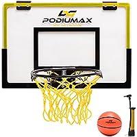 PodiuMax Mini Basketballkorb Set für Indoor-Spiel, Basketball Wand-Hoops & Ziele Perfekt für Schlafzimmer, Office Shoot & Dunk, kommen mit Mini Ball und Pumpe