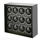 Beco Boxy HOUSE für Fancy Brick Uhrenbeweger – SCHWARZ – inkl. Grundplatte für die Stromspeisung von 1 bis 12 modularen Fancy Brick Uhrenbewegern dank Power Sharing Technologie – von Beco Technic - 5