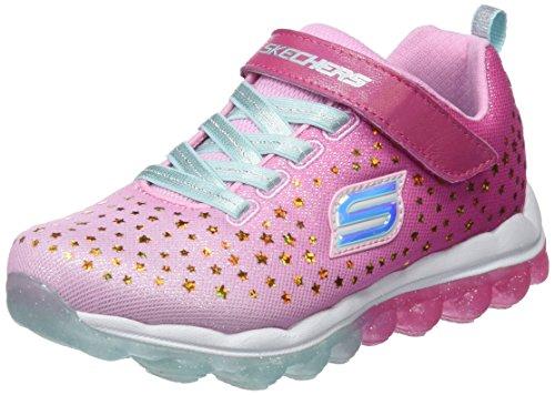 Skechers Mädchen Skech-Air-Star Jumper Sneaker, Mehrfarbig (Pink/Aqua), 27 EU