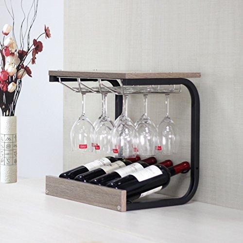 flaschenregal Kreative Bar Weinregal Wand Weinregal Wand-Weinregal Glashalter Wand kreative Weinregal Continental weinständer ( Farbe : A ) (Paletten-weinregal, Wand-montiert)