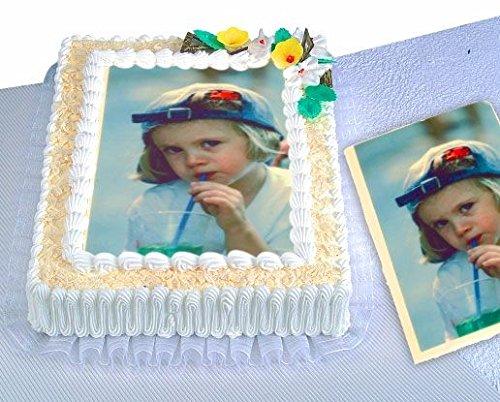 Ihr Foto als Tortenaufleger, eckig oder zum Ausschneiden, für Fototorten-Überraschung (Kuchen Bild)