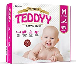 Teddyy Premium Baby Medium Size Diaper (42 Count)