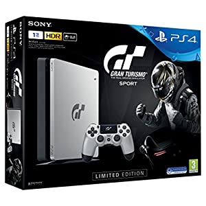 Sony PlayStation 4 Slim (1TB) – GT Sport Special Limited Edition inkl. Spiel Gran Turismo Sport + Dualshock4 Controller…