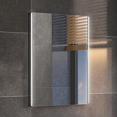 450 x 600 mm Modern Illuminated LED Bathroom Mirror Light Sensor + Demister ML3002 - inexpensive UK light shop.