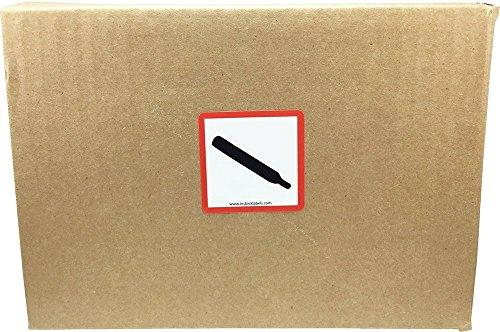 GHS Pictograma Cilindro de Gas Pegatinas, 51 mm 2 Pulgadas Cuadrado, 500 Etiquetas en un Rollo