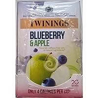Twinings arándano y manzana Bolsitas de té - 4 x 20 de