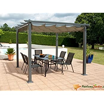 leco pergola 3 x 4 m aluminium mit pulverbeschichtung anthrazit dachrohre aus. Black Bedroom Furniture Sets. Home Design Ideas