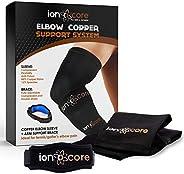 Ionocore® Tutore Gomito con Rame - Compressione Braccia - Protezione Avambraccio, Gomito del Tennista del Golf