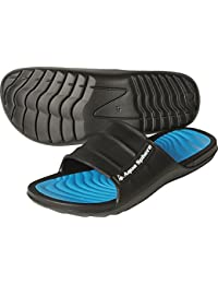 Aqua Sphere Domino - Chanclas unisex, color negro/azul real, talla 40, Unisex, Domino, negro y azul real, 9 UK