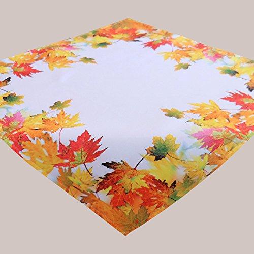 iches Laub Druck-Motiv mit Herbstlaub EIN Schmuckstück Herbst Winter (85x85 cm Mitteldecke) ()
