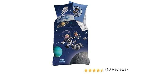 Coton Bleu CTI Parure LAge De Glace Univers 140X200+63X63 200 x 140 cm
