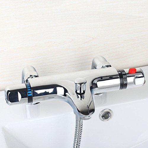 Sccot Duscharmatur Thermostat Wannenarmatur Badewanne Thermostat Bad Modern Chrom Dusche Bademischer Anti verbrühen Tap Beinhaltet Bad Beine