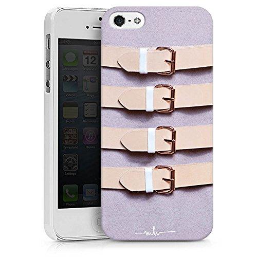 Apple iPhone X Silikon Hülle Case Schutzhülle Schnallen Flieder Leder Mode Hard Case weiß