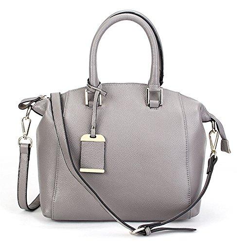 Xinmaoyuan Borse donna borsette in cuoio Fashion Litchi Pattern Vacchetta Boston Big Bag Borse Tracolla,