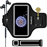 Galaxy S9 Plus Armband,RUNBACH Sweatproof Running Exercise Gym Cellphone Sportband Bag With Fingerprint Touch/Key Holder And Card Slot For Samsung Galaxy S9 Plus(Black)