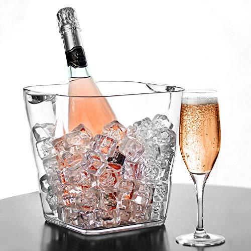 Acryl-Weinkühler-Getränke-/Champagner-Kühler aus Kunststoff für Party, Feierlichkeiten - Kunststoff Champagner