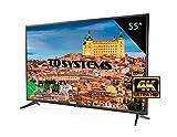 "TD Systems K55DLG8US - Televisor LED de 55"" (Ultra HD 4K Smart), color negro"