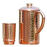 Wasserkrug aus getriebenem Kupfer, Kupferkrug, von HealthGoodsEU