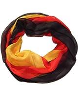 Schlauchschal / Fanschal , Rundschal oder offen / Fan-Schal Fußball Deutschland-Farben Halstuch, versch Modelle, Viskose, schwarz-rot-gelb