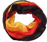 Schlauchschal Fanschal / Fan-Schal Fußball Deutschland-Farben Halstuch, Rundschal, Viskose, schwarz-rot-gelb