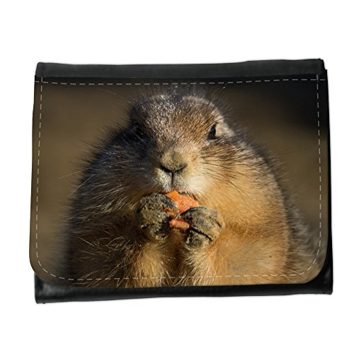 Cartera unisex // M00239698 Prairie Dog Eating Carino Piccolo // Small Size Wallet