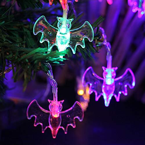 Led Halloween Fledermaus Styling Licht String, Ghost Festival Batterie Raum Dekorative Farbige Lichter Plug-in: 10m 100 licht Mehrfarbig (Plug In Halloween Kostüm)
