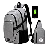 Best Backpacks For Boys - Super Modern Unisex Nylon School Backpack with USB Review