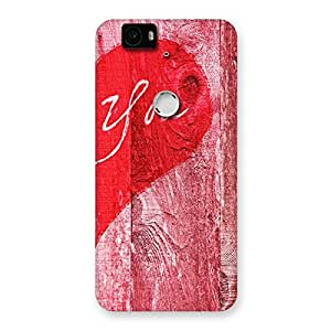 Special Pink You Multicolor Back Case Cover for Google Nexus-6P