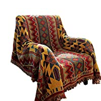 RAIN QUEEN Indian Rag Rug,Oriental Carpet,Colorful Tribal Pattern Sofa Chair Cover Tablecloth,Large Traditional Floor Mat for Hallways,Living Rooom,Kids Bedroom(130 * 180CM)