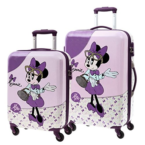 Set 2/Trolleys Abs 55/69cm.4r. Minnie Glam