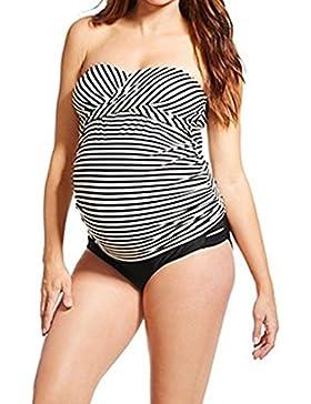 Zilee Costume da bagno donna maternità per premaman,Maternità Tankini,Costume Da Bagno Donna Con Stampa Bikini...