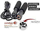 #3: SINDHU SPORTS Unisex Sindhu Fitness Jumping Adjustable Plastic Skipping Rope for Gym Training,Exercise,Workout (TPT_SINDHU_FOAM_ ADJUSTABLE_BLACK)