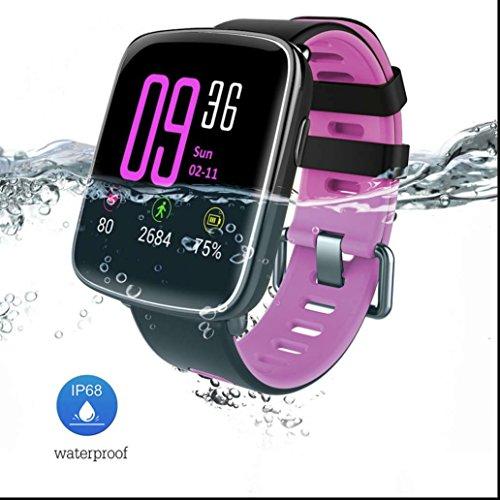 Smart uhr sportuhr Smartwatches Aktivitätstracker Schlaftracker,IP68 Wasserdicht Support Fernkamera Pedometer Herzfrequenz Test Höhe empfindliche Touchscreen intelligente Uhr für iPhone und Android