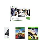 Xbox One S 1 TB Konsole - Starter Bundle + Standfuß + Playerunknown's Battlegrounds + Forza Horizon